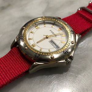 Fossil Men's Watch on Red NATO Strap